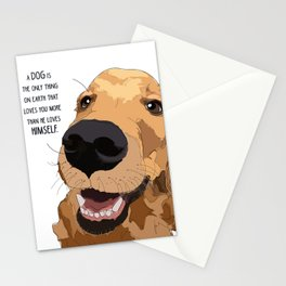 Golden Retriever Love Stationery Cards