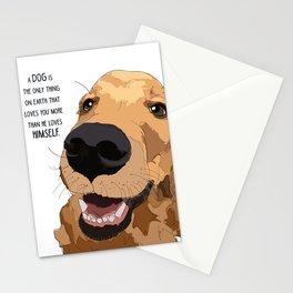 Golden Retriever Love Stationery Cards