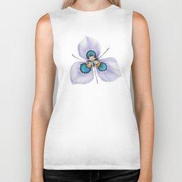 Flower Painting | MORAEA VILLAS | Watercolour | Nature Biker Tank
