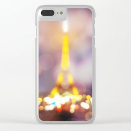 Abstract Eiffel Tower Clear iPhone Case