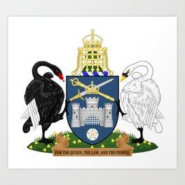 Coat of Arms of Australian Capital Territory  Art Print