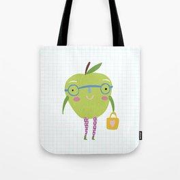 Little Miss Apple Tote Bag