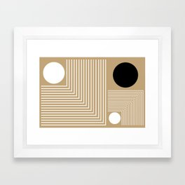 Lines & Circles Framed Art Print