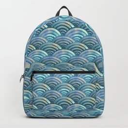 Blue fish scales pattern Backpack