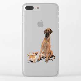 The Long and the Short and the Tall (Wordless) Clear iPhone Case
