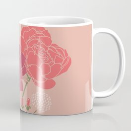 Pink Floral Bouquet in a Vase Coffee Mug