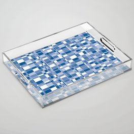 Mod Gingham - Blue Acrylic Tray