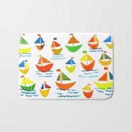 Crazy Sailboats Bath Mat