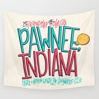 indiana Wall Tapestries featuring Pawnee, Indiana by Chelsea Herrick