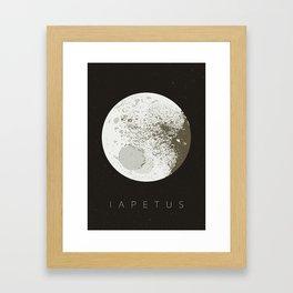 iapetus | moon of saturn Framed Art Print