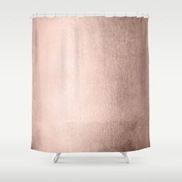 Moon Dust Rose Gold Shower Curtain