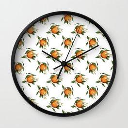 Blooming Citrus Watercolor Wall Clock