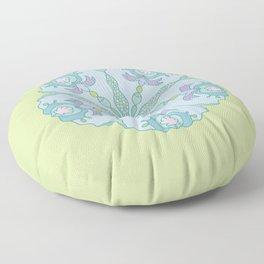 Mermaid Tail Mandala Floor Pillow