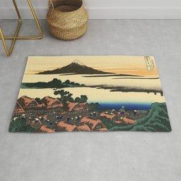 Katsushika Hokusai - 36 Views of Mount Fuji (1832) - 45: Dawn at Isawa in Kai Province Rug