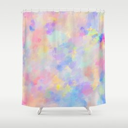 Secret Garden Colorful Abstract Impressionist Painting Pattern Shower Curtain