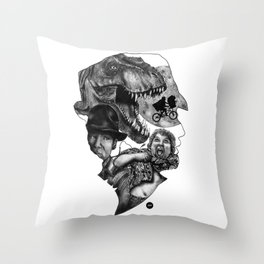 The art of Spielberg Throw Pillow