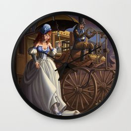 Steampunk Cinderella Wall Clock