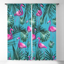 Tropical Flamingo Pattern #4 #tropical #decor #art #society6 Blackout Curtain