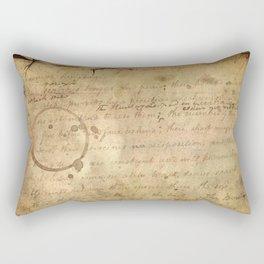Caffeinated Kingdom; Vintage Old School Texture Series Rectangular Pillow