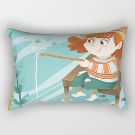 Giadina goes to fishing Rectangular Pillow