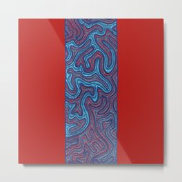 Stitches - Coral Metal Print