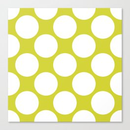 Polka Dots Green Canvas Print