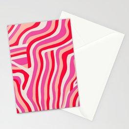 pink zebra stripes Stationery Cards