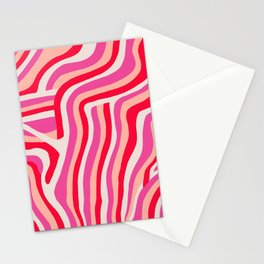 pink zebra stripes Stationery Cards
