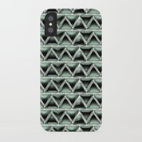 malachite iPhone & iPod Cases featuring Malachite Triangles by naturessol