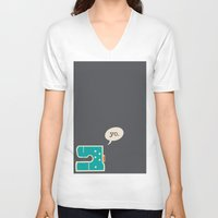 sewing V-neck T-shirts featuring sewing yo. by Go To Design