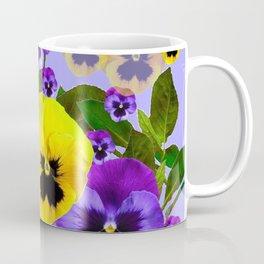 SPRING PURPLE & YELLOW PANSY FLOWERS Coffee Mug