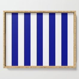 Cadmium blue	 - solid color - white vertical lines pattern Serving Tray