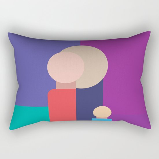 Family - Father, Mother, Child Rectangular Pillow