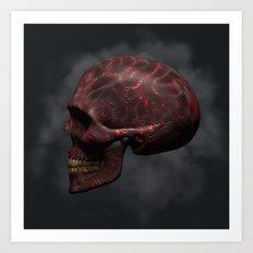 Organic Skull 02 Art Print