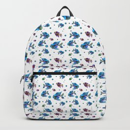 Pattern Fish Blue Rapport Backpack