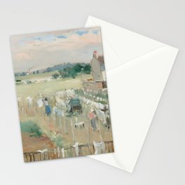 Hanging the Laundry out to Dry by Berthe Morisot Stationery Cards