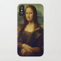 mona lisa iPhone & iPod Cases featuring Mona Lisa by Leonardo da Vinci by Palazzo Art Gallery