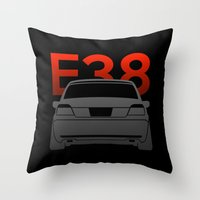 bmw Throw Pillows featuring BMW E38 by Vehicle