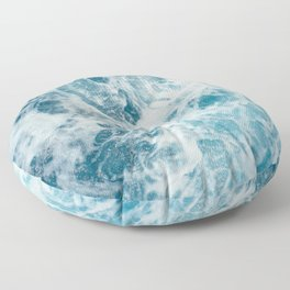 Rough Sea - Ocean Photography Floor Pillow