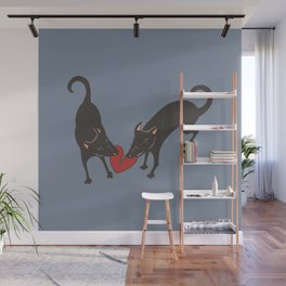 Black Dog Heartbreak Wall Mural