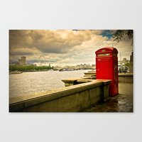 telephone Canvas Prints featuring Telephone by Davide Bergamini