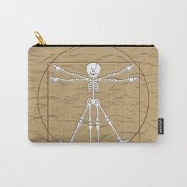 Vitruvian Man Skeleton Cartoon  Carry-All Pouch
