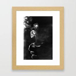 SMOKE and LIGHT Framed Art Print