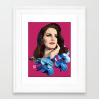 lana del rey Framed Art Prints featuring Del rey by Jesus Servin