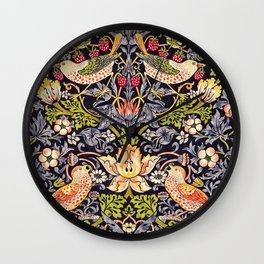 William Morris Strawberry Thief Art Nouveau Painting Wall Clock