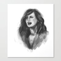 regina mills Canvas Prints featuring Regina Mills Digital Illustration by dalliance-amongst-the-stars