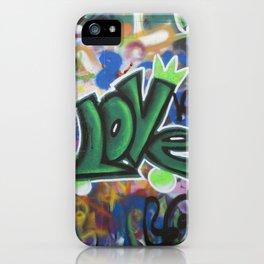 TEL AVIV, ISRAEL - Love Graffiti iPhone Case