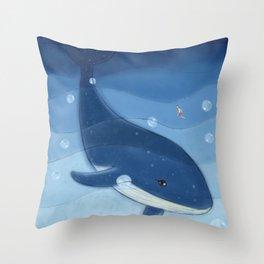 Mysterious Sea Dolphin Throw Pillow