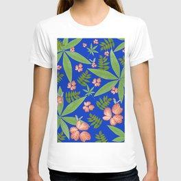 Leaves on Blue T-shirt