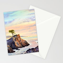 Lone Cypress Tree Pebble Beach California Stationery Cards